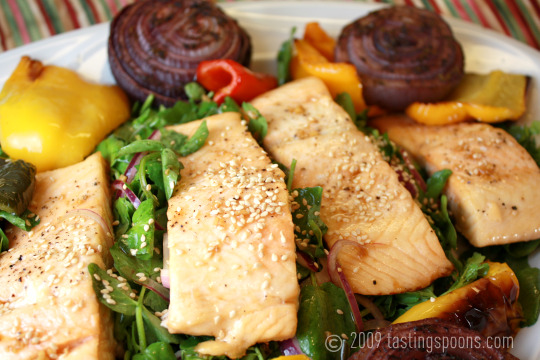 salmon watercress salad