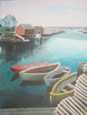 Peggy's Cove, oil on canvas, 12 x 16