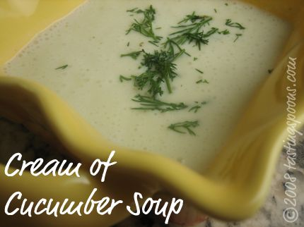 cream of cucumber soup - cold