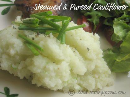 steamed pureed cauliflower