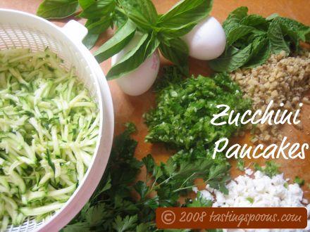 turkish zucchini pancakes ingredients