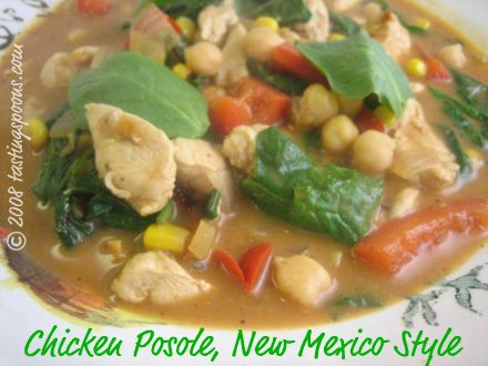 chicken posole, New Mexico Style