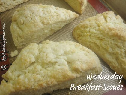 wednesday breakfast scones from Anne Hughes Cafe