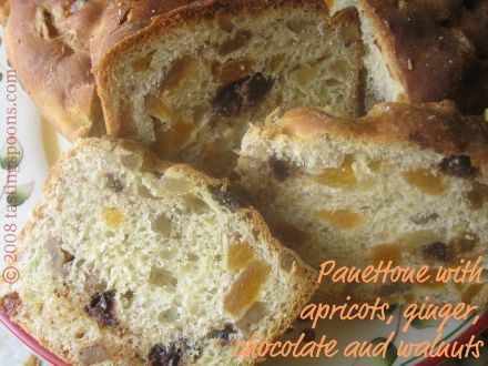 panettone slices, hot out of the oven