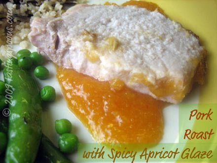 Pork Loin Roast with Spicy Apricot Glaze & Sauce ...