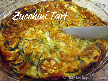 Zucchini Tart, or a Crust-Free Zucchini Pie, or maybe it's called ...