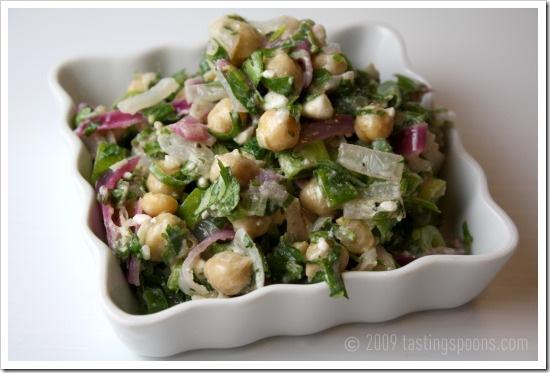 garbanzo salad feta