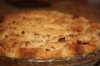 apple pie top view