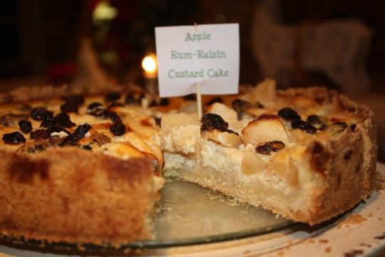 Apple Rum-Raisin Custard Cake | TastingSpoons