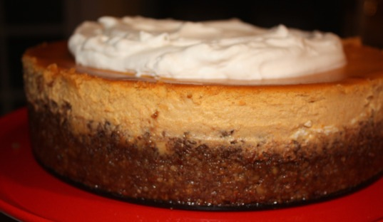 Roasted Sweet-Potato Cheesecake with Pecan Nut Crust and Maple Whipped ...
