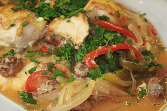Italian Style Chicken With Sausage Peppers And Onions