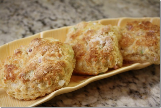 ham goat cheese biscuits