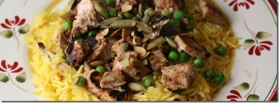 leftover turkey with basmati