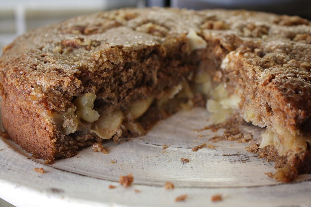 Liquor Soaked Apple Walnut Ginger Cake Recipe — Dishmaps