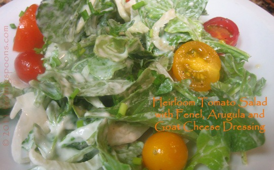 Heirloom Cherry Tomato, Fennel and Arugula Salad with Goat Cheese ...