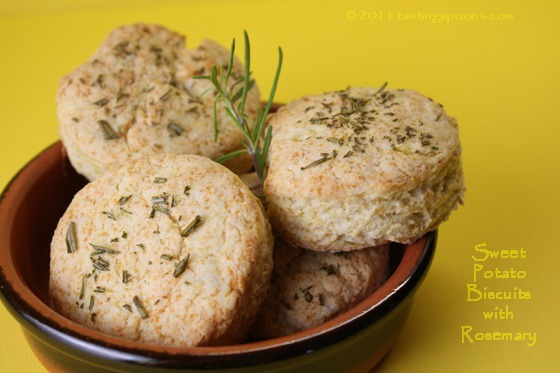 Paula Deen's Sweet Potato Biscuits with Rosemary | TastingSpoons