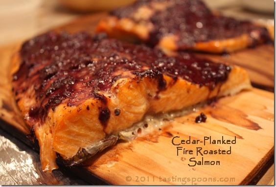 Cedar-Planked, Fire-Roasted Salmon | TastingSpoons