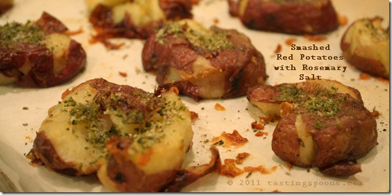 Smashed Red Potatoes with Rosemary Salt | TastingSpoons
