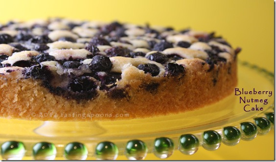 Blueberry Nutmeg Cake Recipe — Dishmaps