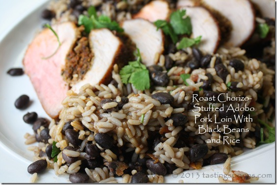 roast_pork_loin_adobo_blackbeans_rice