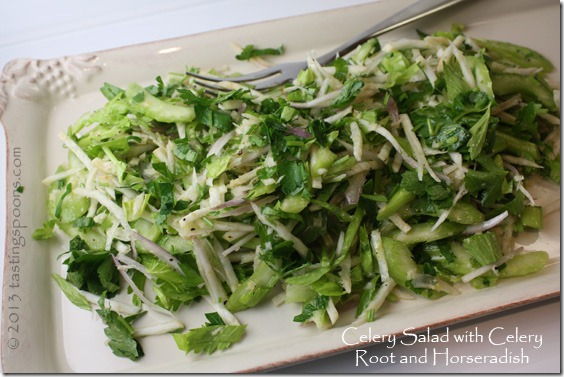 An altogether different kind of salad – no traditional salad greens ...