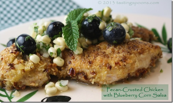 pecan_crusted_chix_blueberry_corn_salsa
