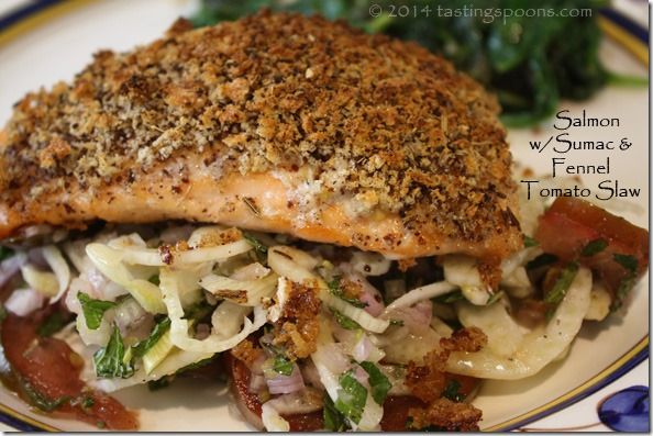 salmon_sumac_fennel_tomato_slaw