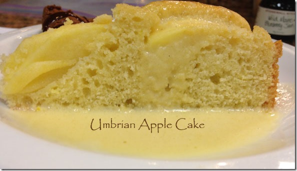 Umbrian Apple Cake with Creme Anglaise made with apple cider
