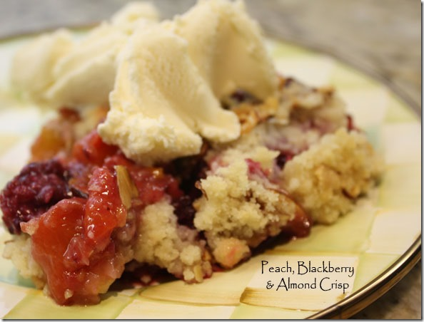 recipe: blackberry nectarine crisp [28]