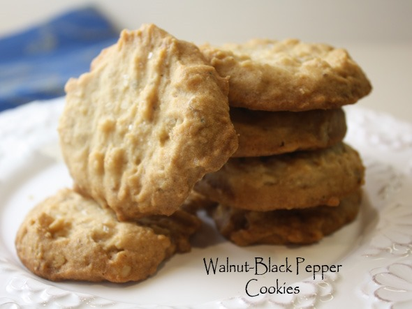 Walnut-Black Pepper Cookies