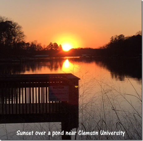 pond_sunset_clemson
