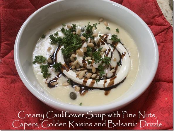 caulif_soup_golden_raisins_capers_pinenuts