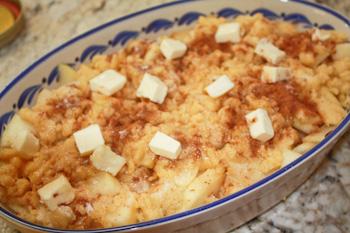 apple crisp before baking
