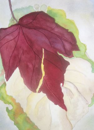Red Leaf, watercolor