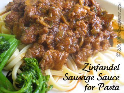 zinfandel sausage sauce for pasta