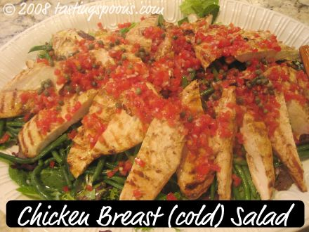 Cornish Game Hen (or Chicken Breast) Salad with Green Beans