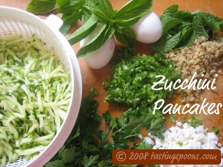 turkish zucchini pancakes ingredients