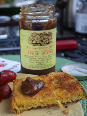 Pumpkin bread with apple butter - sublime!