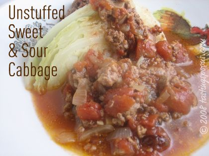 unstuffed sweet and sour cabbage