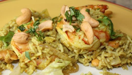 shrimp khichdi