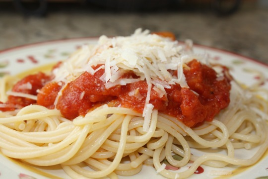 tomato sauce and butter