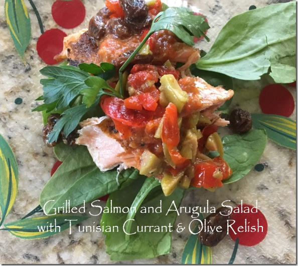 grilled_salmon_arugula_salad_tunisian_relish
